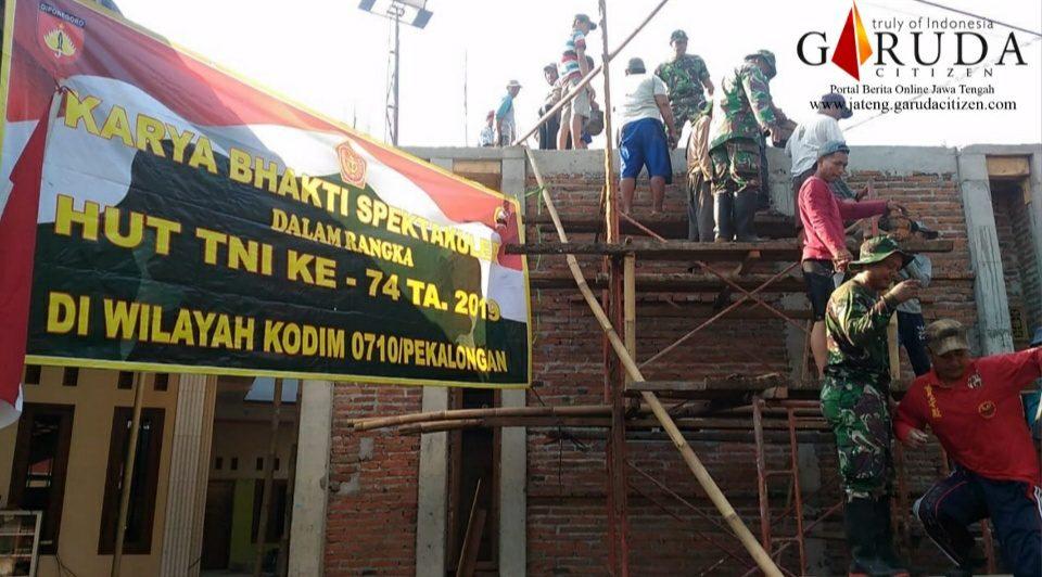 Bakti TNI bersama Masyarakat membangun Mushola