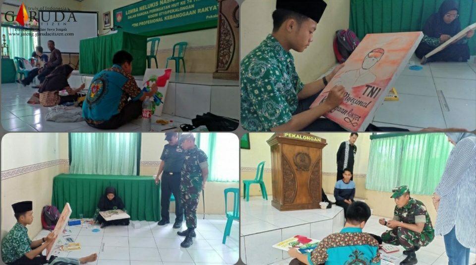 HUT TNI ke-74, Kodim Pekalongan Gelar Lomba Lukis Tingkat SLTA