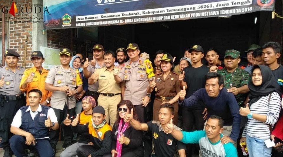 Kapolda Jateng Pantau Relawan Karhutla Gunung Sumbing