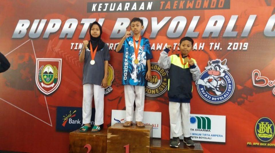 2 Anak TNI Kodim Pekalongan Ukir Prestasi Kejuaraan Taekwondo