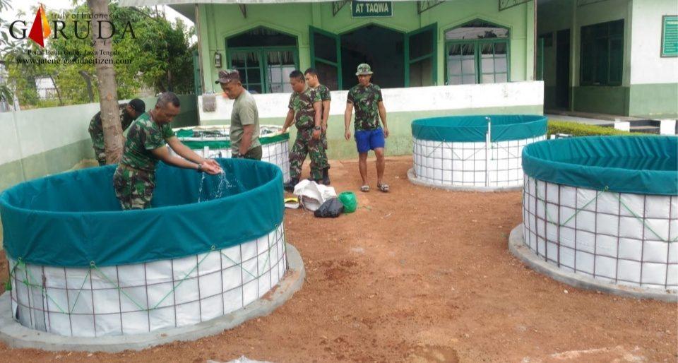 Kodim Pekalongan Budidaya Ikan Lele dengan Sistem Bioflok