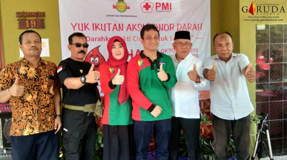Harlah ke-3, Jamaah Yasin Baariklanaa Gelar Aksi Donor Darah