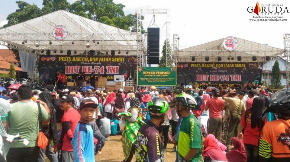 HUT TNI, Masyarakat Antusias Ikuti Jalan Sehat dan Sepeda Santai