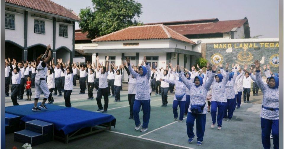Jalin Silaturahmi, Jalasenastri Cabang 7 Gelar Olahraga Bersama