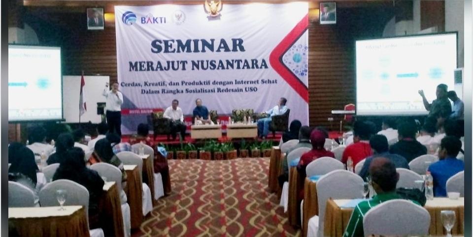 Seminar Merajut Nusantara, Anggota DPR RI Janjikan Wifi Gratis