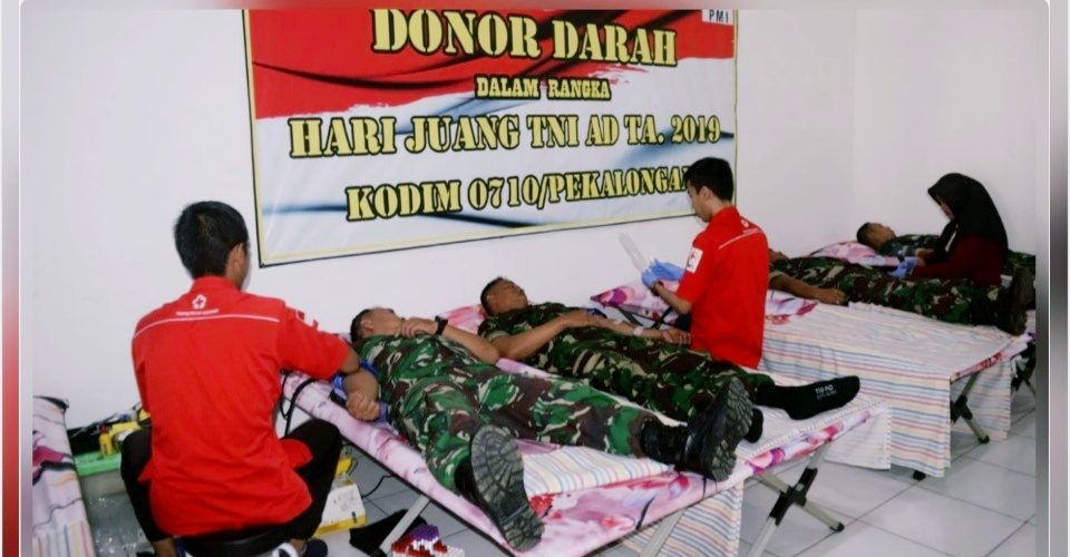 Hari Juang TNI AD 2019, Ratusan Orang Ikuti Donor Darah
