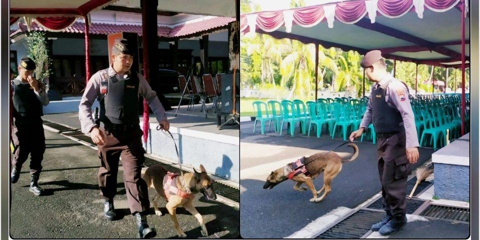 Sterilisasi Lokasi Pelantikan Kades, Polisi Kerahkan Anjing Pelacak