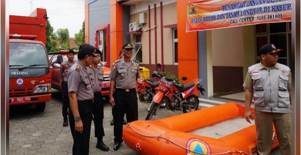 Antisipasi Bencana, Polres Pekalongan Cek Kesiapan Posko BPBD