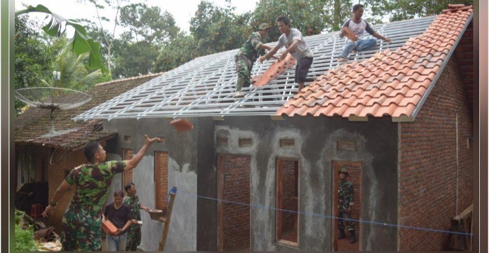 Kodim Pekalongan Rehab Rumah Tidak Layak Huni di Kecamatan Doro